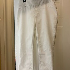Up! Pants Crop White Jeans, size 14